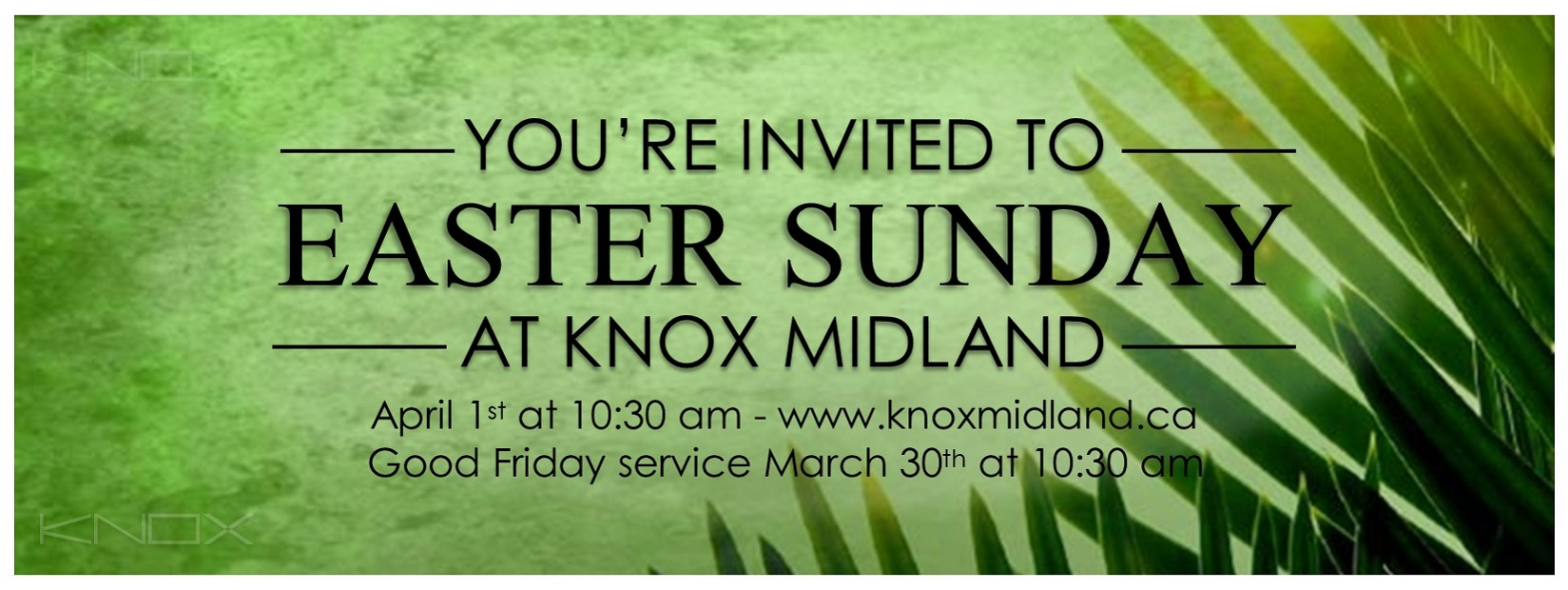 MAKE KNOX PART OF YOUR EASTER TRADITION
