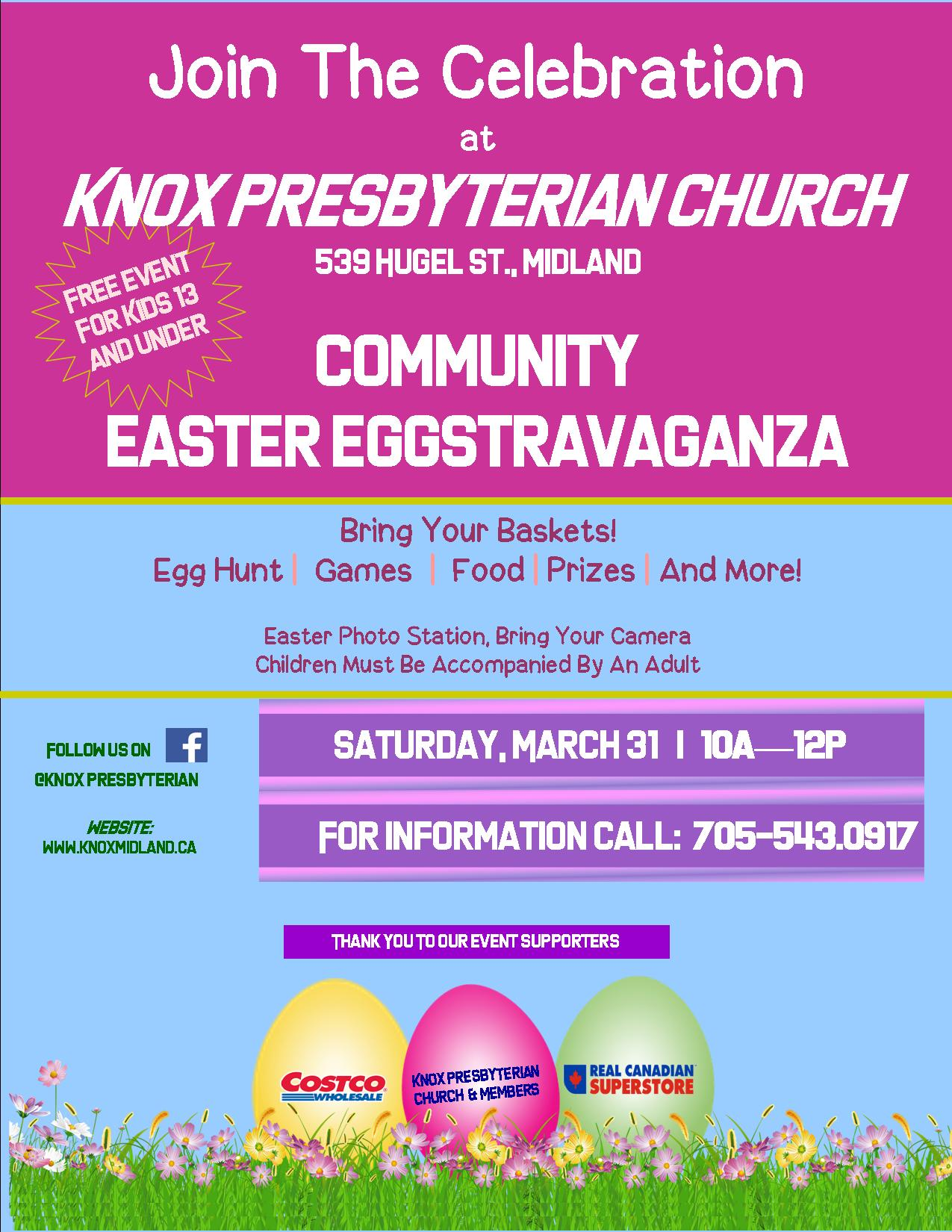 FAMILY FRIENDLY EASTER EGGSTRAVAGANZA!