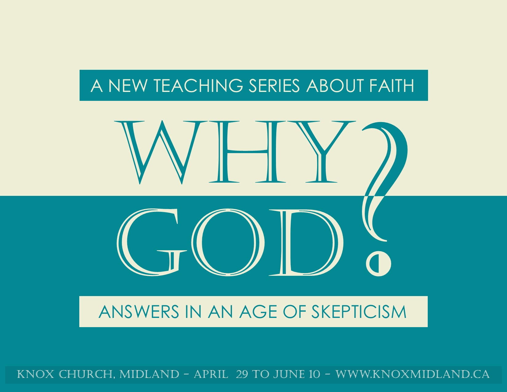 A NEW SERIES FOR SKEPTICS